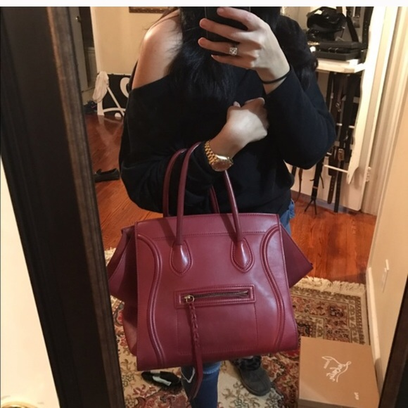 Celine Handbags - Still available Celine Phantom red/burgundy